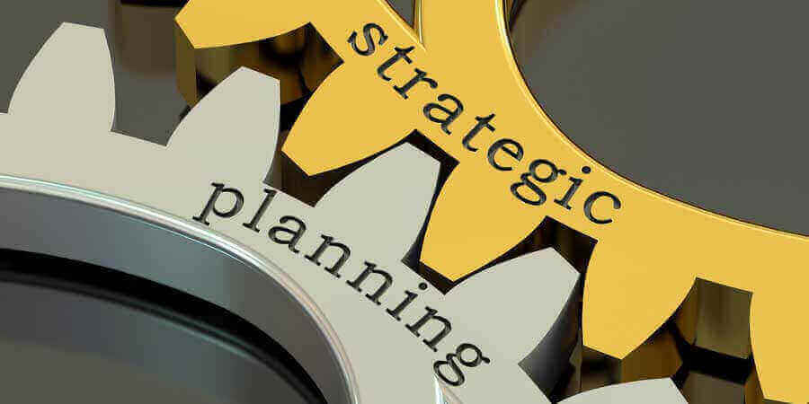 Strategic Planning Words on Gear